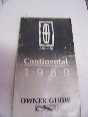 1965 lincoln continental owners manual ebay