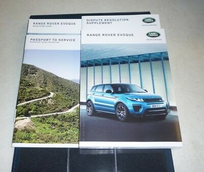 2016 range rover evoque owners manual